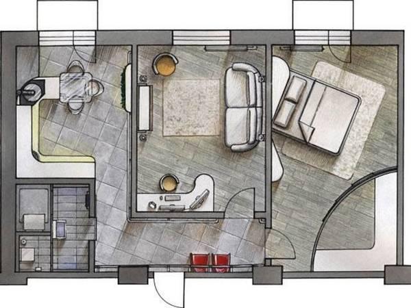 идей для перепланировки двухкомнатной квартиры –