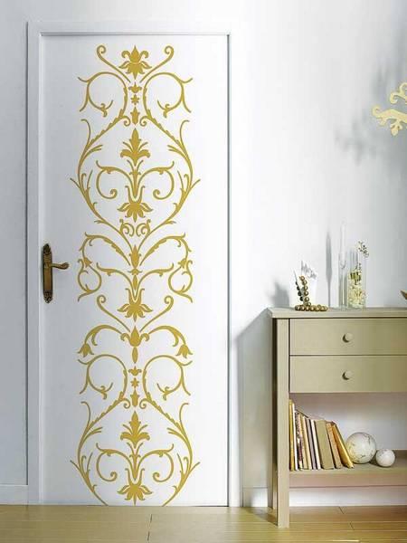 Расписываем двери своими руками: узоры, трафареты и рисунки
